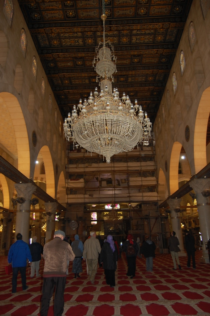 Inside of the Al-Aqsa Mosque.
