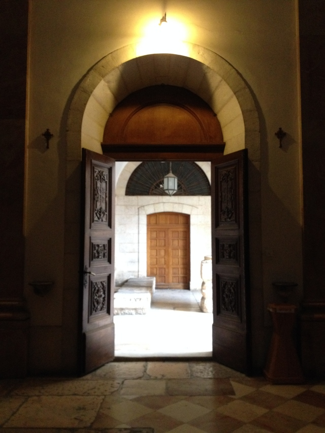 Doors at Via de la Rosa chapel.