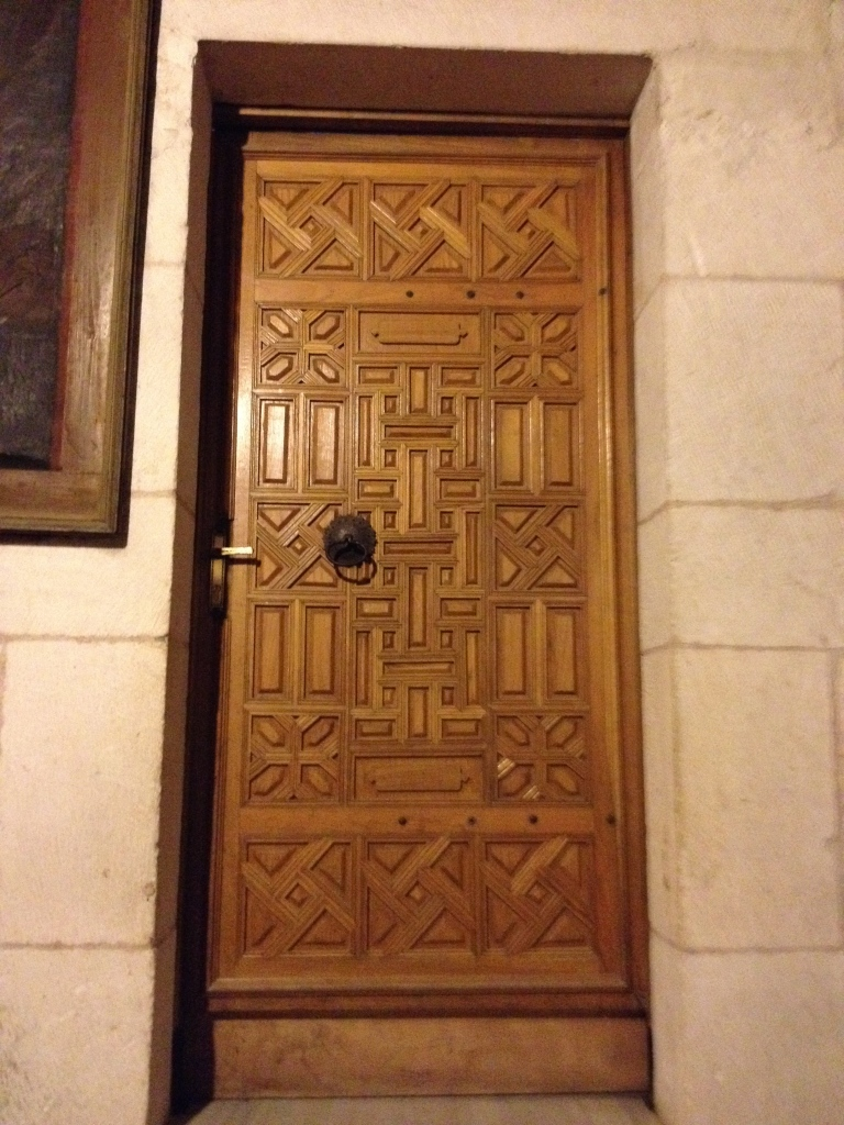A door within the Church of the Holy Sepulcher.