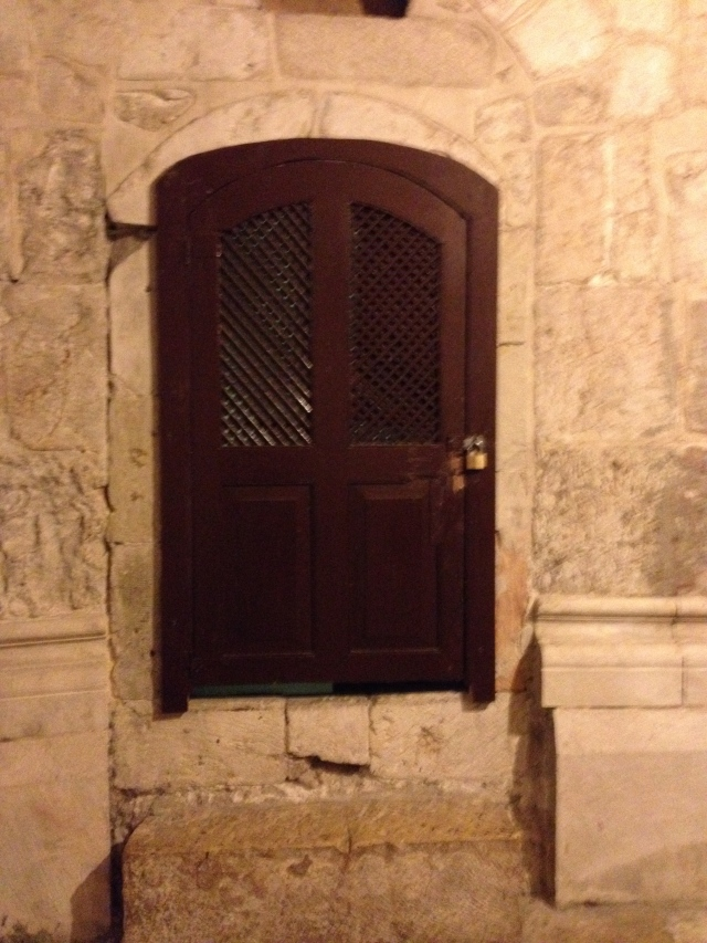 Door within the Church of the Holy Sepulcher.