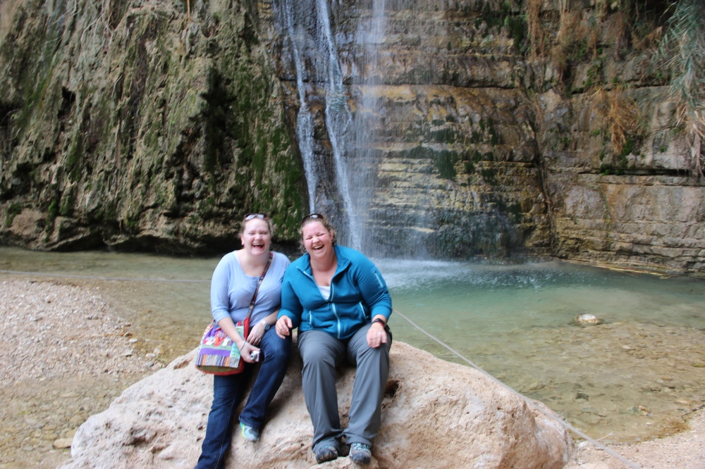 Katie and I after our hike to the larger of the two waterfalls.